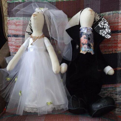 Кукла Тильда - Свадебные Зайцы 1 - IMLab JUST PROFESSIONAL TAILOR