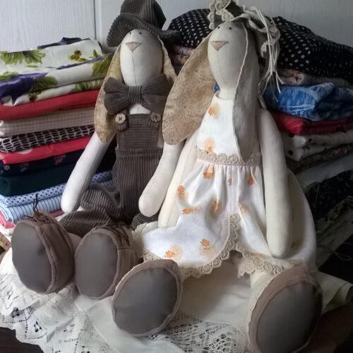 Кукла Тильда - Зайцы Сладкая Парочка 3 - IMLab JUST PROFESSIONAL TAILOR