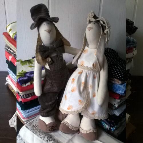 Кукла Тильда - Зайцы Сладкая Парочка 1 - IMLab JUST PROFESSIONAL TAILOR