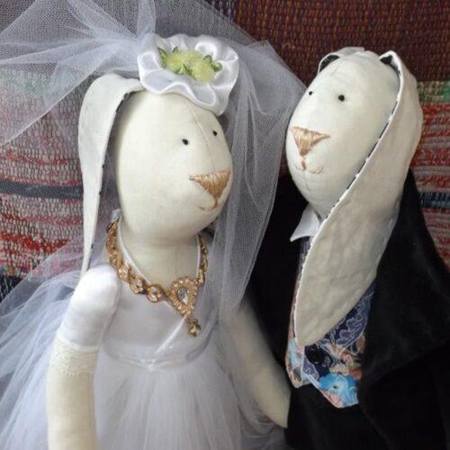 Кукла Тильда - Свадебные Зайцы 2 - IMLab JUST PROFESSIONAL TAILOR